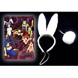 Haruhi Cosplay rabbit ears and tail
