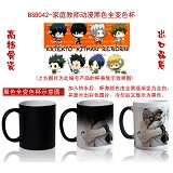 Reborn anime hot and cold color cup