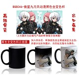 Star stealing girl anime hot and cold color cup