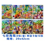 One piece anime posters(8pcs a set)