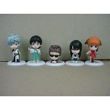 Gintama anime figures(5pcs a set)