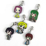 Code Geass anime metal keychians