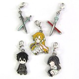Sword Art Online anime metal keychains