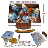 The Smurfs anime rubber table mat