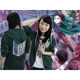 Attack on Titan anime long sleeve hoodie(green)