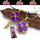 Shugo Chara lovers anime necklace(purple)