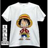 One Piece luffy anime T-shirt TS1473