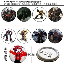 Transformers anime brooches pins(8pcs a set)