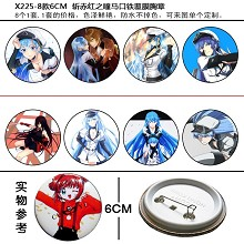 Akame ga KILL! anime brooches pins(8pcs a set)