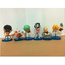 One Piece anime figures(6pcs a set)