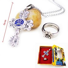 Tomb Notes anime necklace+ring