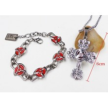 Naruto anime bracelet+necklace