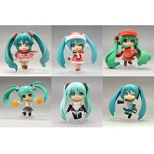 Hatsume Miku anime figures set(6pcs a set)