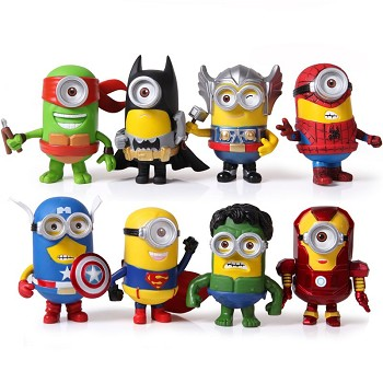 Despicbale Me anime figures set(8pcs a set)