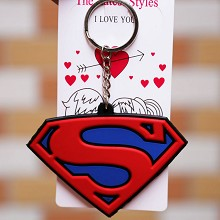 Super Man Frozen anime two-sided key chain