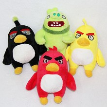 4inches Angry Birds anime plush dolls set(4pcs a s...