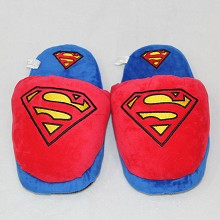 Super man plush slippers shoes a pair