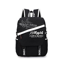 Sword Art Online black backpack bag