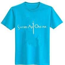 Sword Art Online cotton blue t-shirt