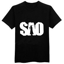 Sword Art Online cotton black t-shirt