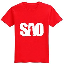 Sword Art Online cotton red t-shirt