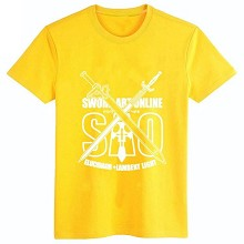 Sword Art Online cotton yellow t-shirt