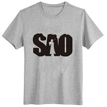 Sword Art Online gray cotton gray t-shirt