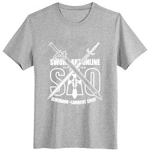 Sword Art Online gray cotton t-shirt