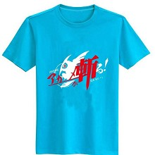 Gintama cotton blue  t-shirt