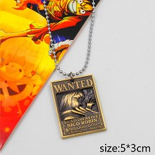 One Piece Robin wanted necklace