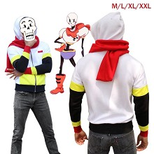 Undertale Papyrus thick hoodie and scarf a set