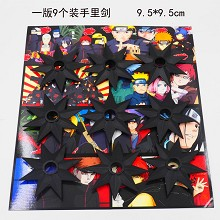 Naruto cos weapons set(9pcs a set)