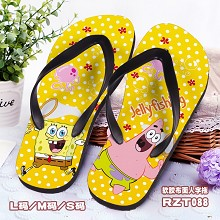 Spongebob shoes slippers a pair