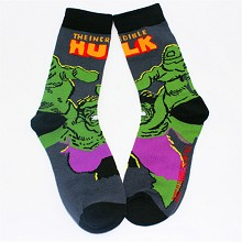 Hulk cotton socks a pair
