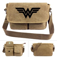 Wonder Woman canvas satchel shoulder bag