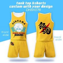 Gintama anime vest+short pants a set