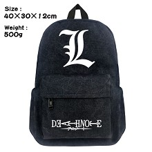 Death Note anime canvas backpack bag
