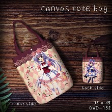 ALICE or ALICE canvas tote bag shopping bag