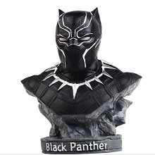 Black panter resin bust figure