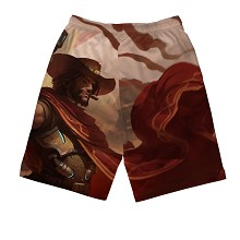 Overwatch beach pants shorts middle pants
