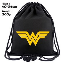 Wonder Woman drawstring backpack bag