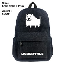 Undertale canvas backpack bag