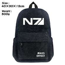 Mass Effect canvas backpack bag