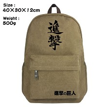 Attack on Titan canvas backpack bag