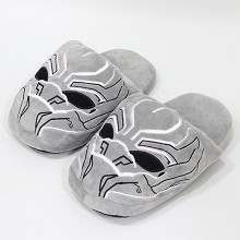 12inches Black Panther plush shoes slippers a pair