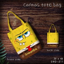 Spongebob canvas tote bag shopping bag