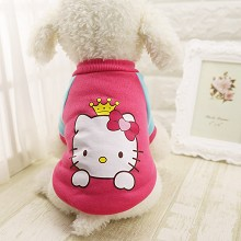 Hello kitty anime pet dog clothes hoodie