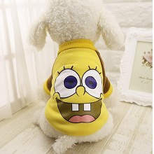 Spongebob anime pet dog clothes hoodie