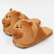 We Bare Bears plush shoes slippers a pair 28CM
