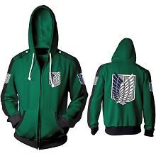 Attack on Titan anime 3D printing hoodie sweater cloth